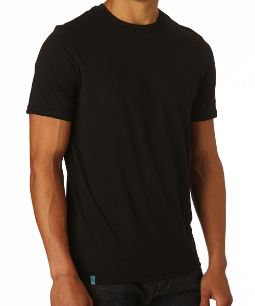 Men's Black Crew Neck Everyday T-Shirt -Fair Trade