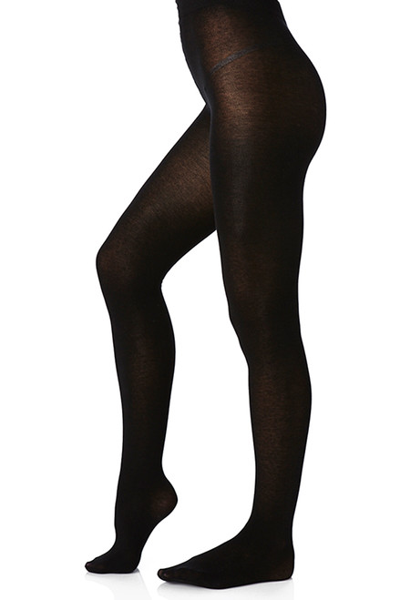 Women's  Everyday Black Tights  - Organic Cotton blend