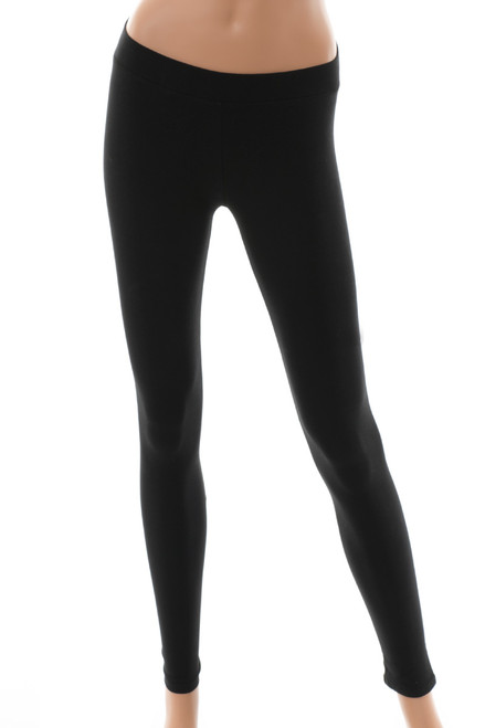 Women's Organic Cotton Blend Black Leggings