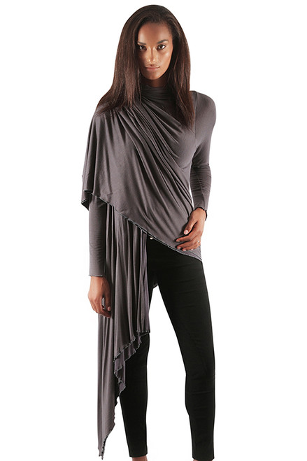 Lori Hooded Wrap - Modal