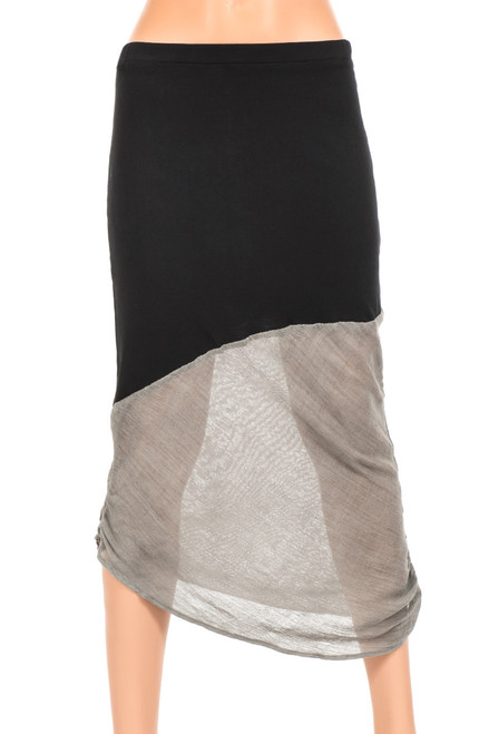 Dyna Two Toned Asymmetrical Skirt - Upcycled Jersey