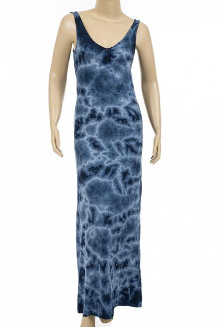 Double V Neck Pocket Maxi Dress, Crystal Wash