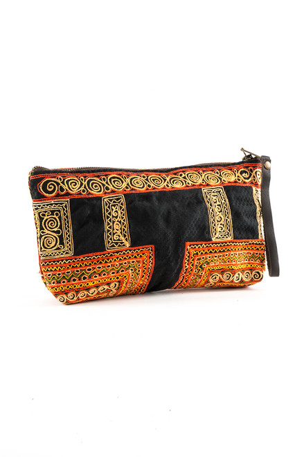 Charlotte Clutch, Hand Embroidered - Recycled Materials