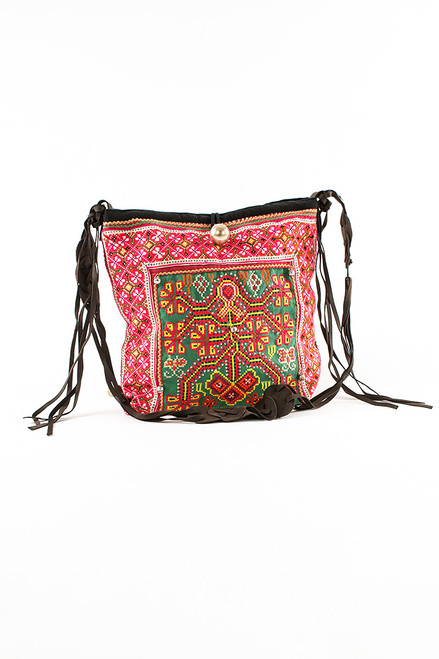 Elizabeth I Messenger Textile Bag - Recycled Materials