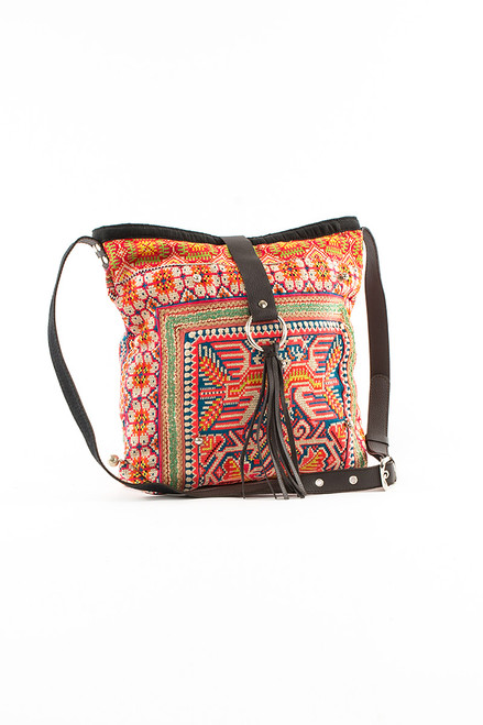 Elizabeth II Messenger Textile Bag - Recycled Materials