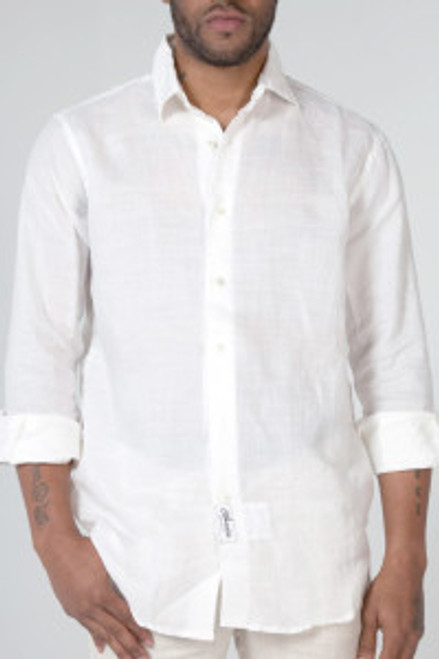 Men's 100% Natural Linen L/ S Shirt