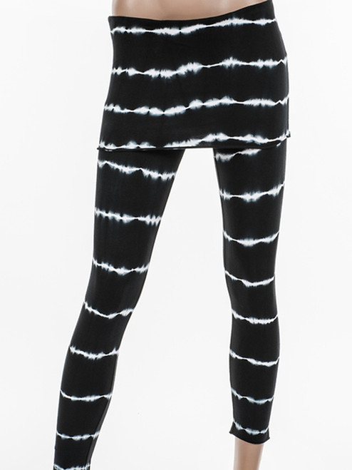 Bamboo Striped Fold Over Capris - Organic Cotton