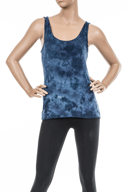 Cross-Cut Tank Crystal Wash - Organic Cotton/Modal Blend