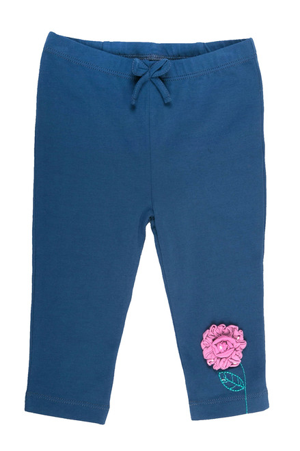 Baby Girl's Organic Cotton Flower Legging