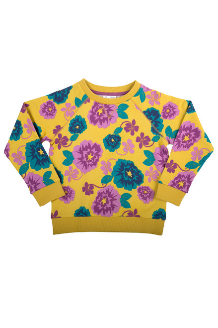 Girl's Country Floral Sweatshirt - Organic Cotton