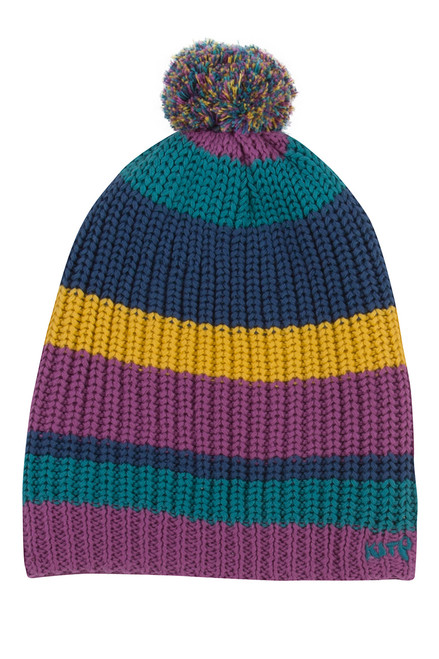 Girl's Organic Cotton Pom Pom Hat