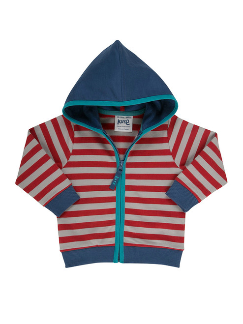 Baby Boy Stripy Zip Through Hoody