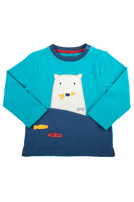 Baby Boy Polar Bear T-Shirt - Organic Cotton