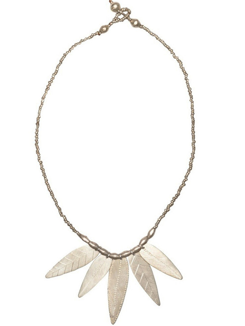 Almaz Multi-Leaf Necklace - Recycled Metals