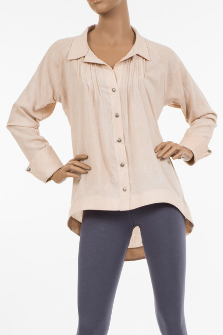 Vanna Collared Blouse  - Organic Cotton