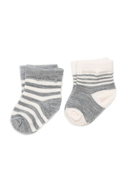 Silver Merino Wool Infant Socks - 2 Pack