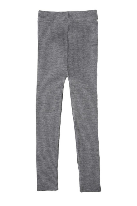 100% Organic Merino Wool Girls Knit Leggings