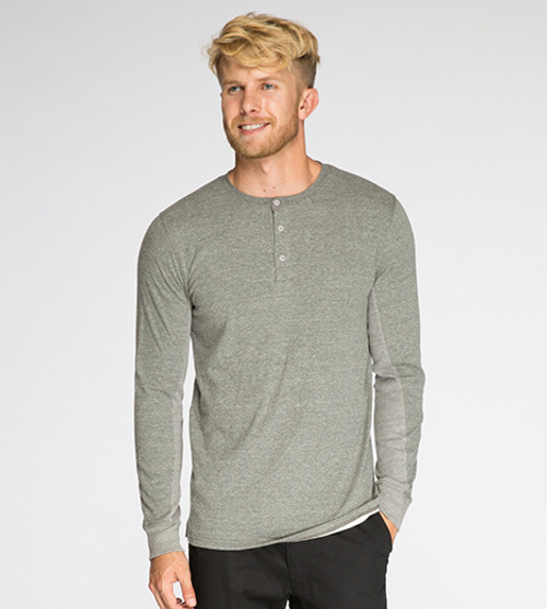 Men's L/S Novelty Henley - Organic Cotton Blend