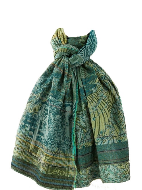 Babacar Green Scarf  - 100% Organic Cotton