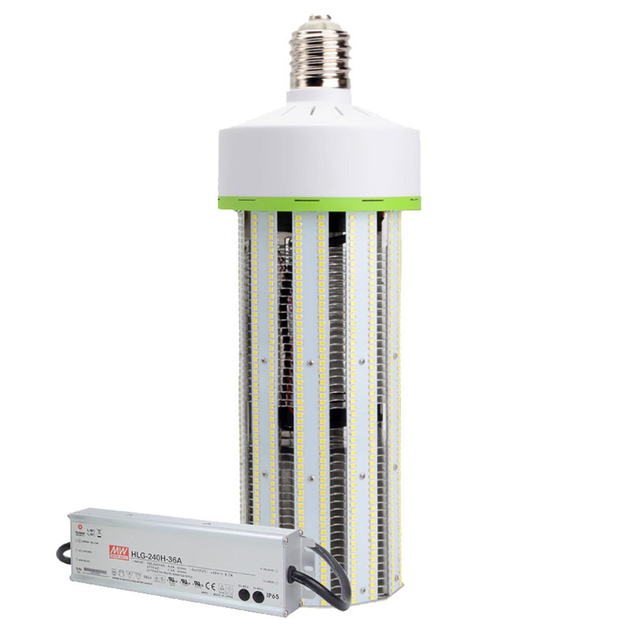 1000 Watt Metal Halide Led Replacement 200 watt led corn bulb, replace 1,000 watt hid in enclosed fixture, 24,000  lumens, cri 80, 50,000 hours, 5 year warranty