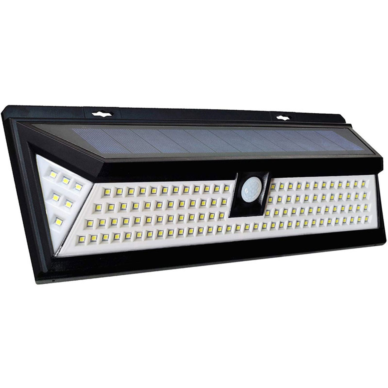 Led Solar Powered Motion Light 10 Watts Outdoor Motion Detection 180 Degree Beam Angle 118 Led S Ip65 5 Year Warranty Led Global Supply