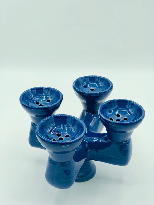 Quadruple head bowl - Blue