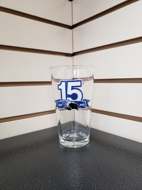 15th Anniversary Glass