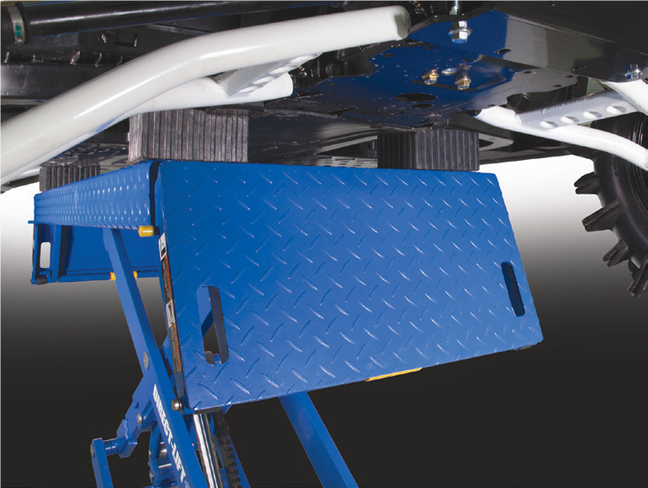 Direct-Lift® X-Force ATV/UTV Lift Frame contact with rubber pad