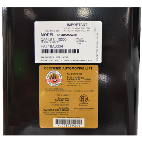 Weaver® W-Pro10 BLACK LABEL Gold Certification Label