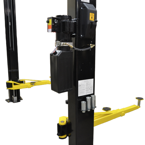 W-Pro10 Power Unit, Single Point Safety Lock Release and Height Adapter Storage.