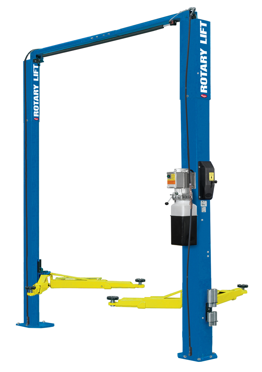 Rotary® AT07 Space Saver Two-Post Lift 7,700 lbs. Capacity