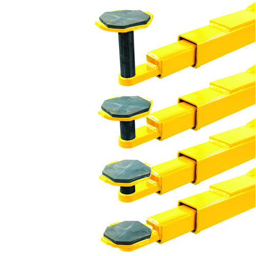 "Weaver Lift W-Pro10 Lifting Pads with Included Height Adapters starting with a low pad height of only 3 5/8""."