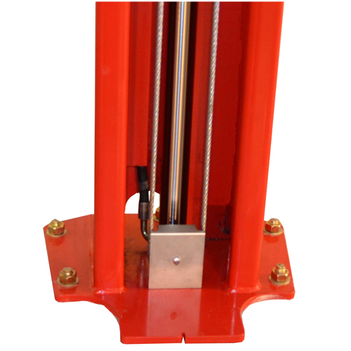 Protected Cable Pulley Guards and Internal Column Hose Guard Protection.