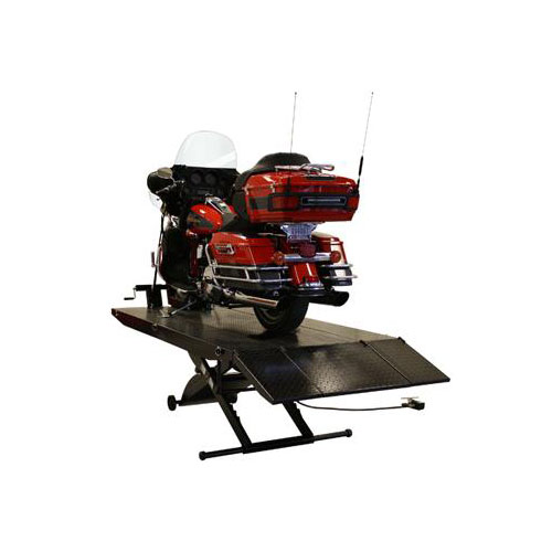 Direct Lift Motorcycle Lift with Side Extensions