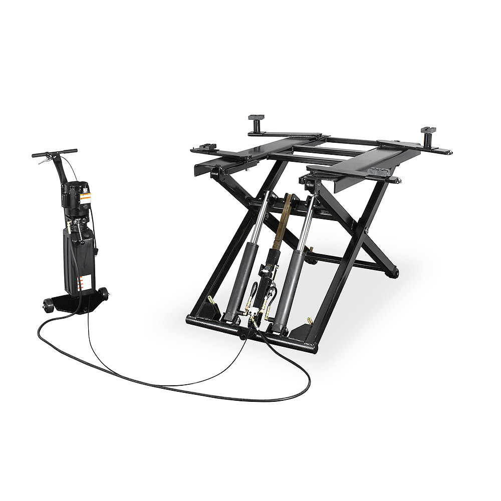 Direct-Lift Pro-6M Mid Rise Lift with swing arm adapters and height extensions