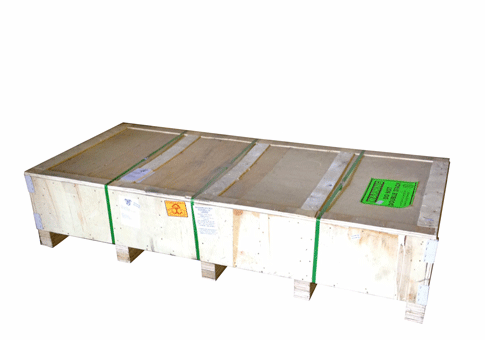 "Rotisserie Shipping Package 75"" x 33"" x 16"" Wooden Crate"