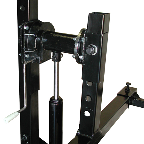 Weaver® Car Rotisserie Hand Crank used to Rotate unit once it has been balanced and centered.