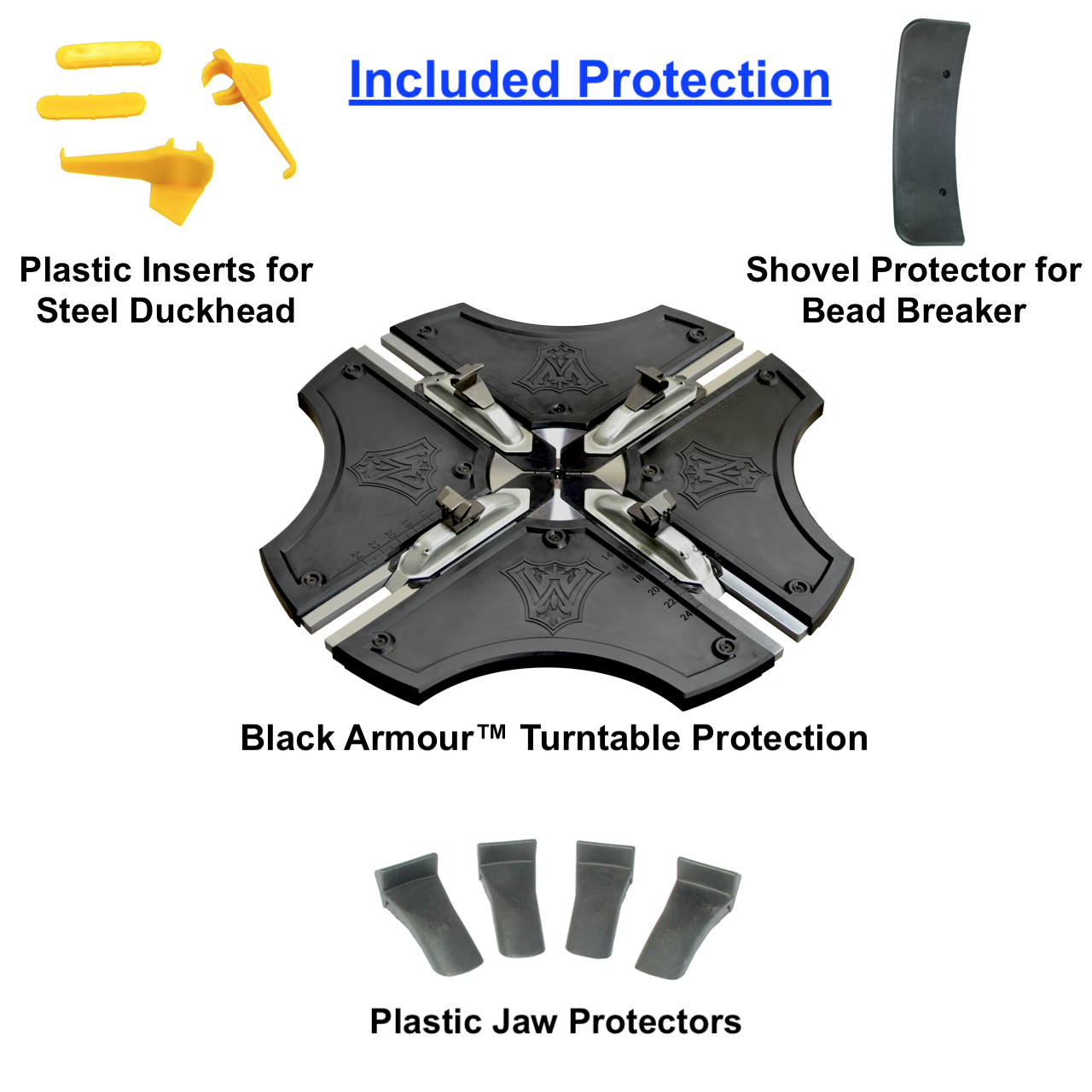 W-898XS Included Plastic Protector Set