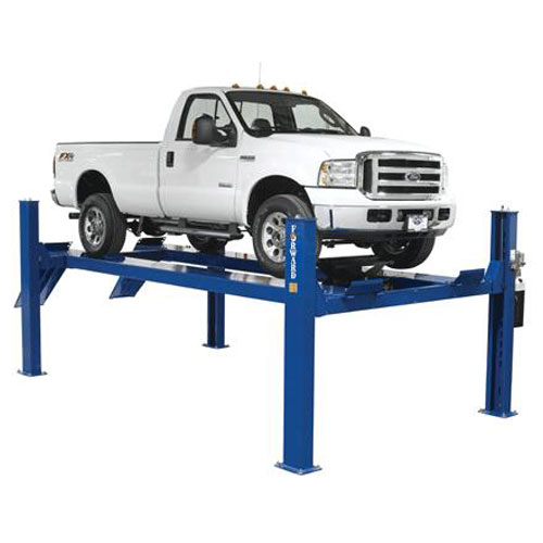 Forward Lift CR-14 4 Post Lift with single cab truck