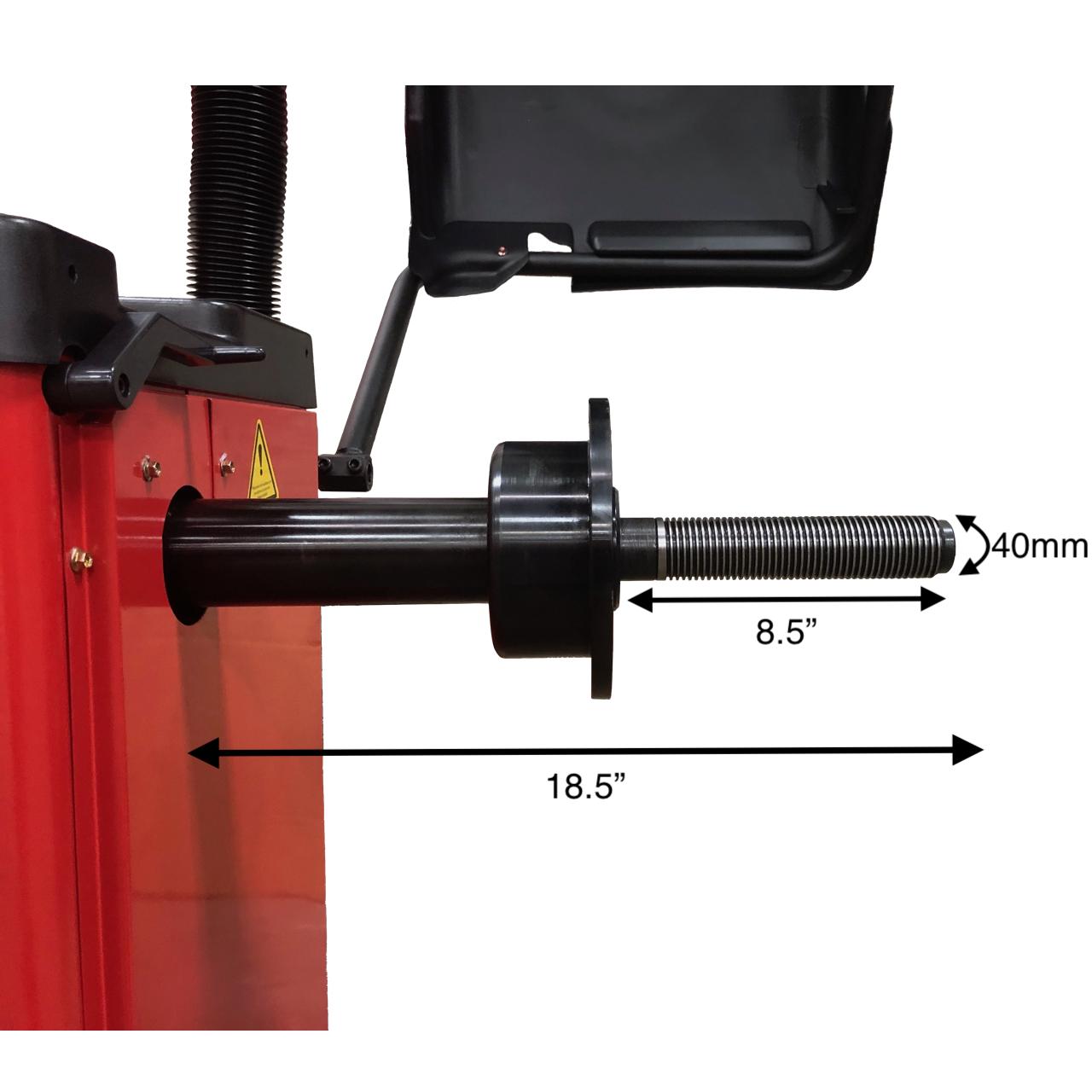 Weaver W-957-40 Wheel Balancer Shaft Measurements