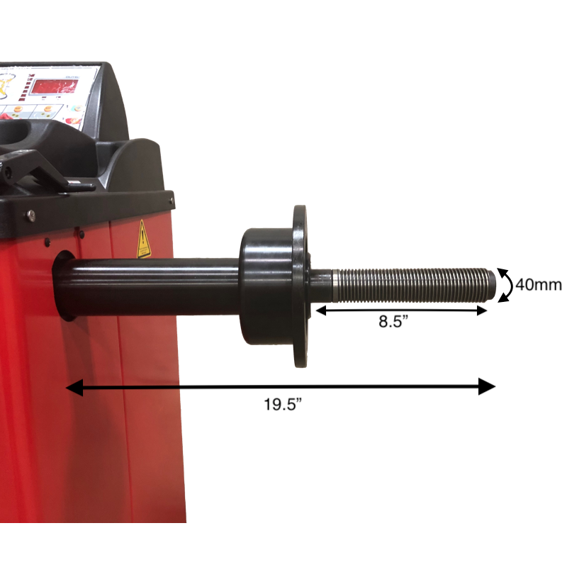 Weaver W-937-40 Wheel Balancer Shaft Measurements