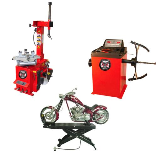 Weaver® Motorcycle Tire Changer / Wheel Balancer / Motorcycle Lift - Triple Combo 1