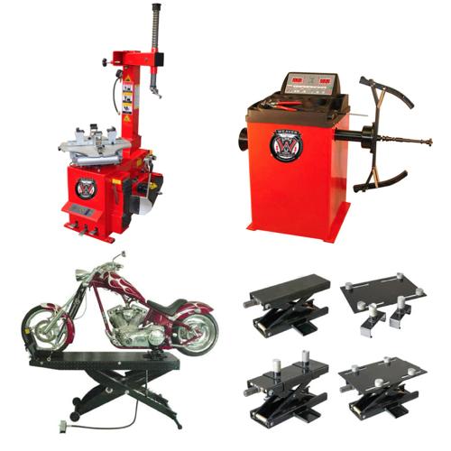 Weaver® Motorcycle Tire Changer / Wheel Balancer / Motorcycle Lift / BlackJack - Quad Combo 1