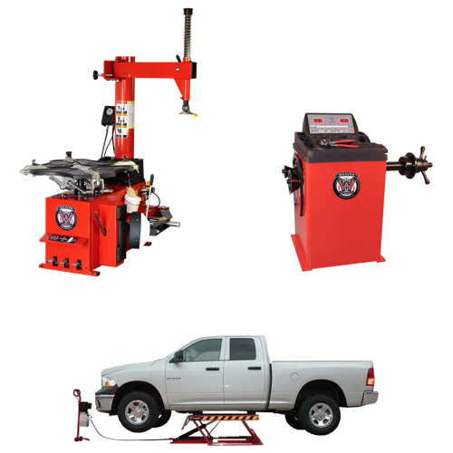 Weaver® Tire Changer / Wheel Balancer / Car Lift - Triple Combo 1-B