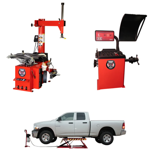Weaver® Tire Changer / Wheel Balancer / Car Lift - Triple Combo 4-B