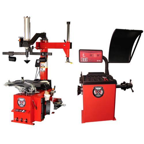 Weaver® Tire Changer / Wheel Balancer / Assist Arm - Triple Combo 4-A