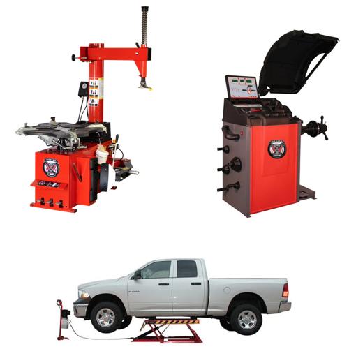 Weaver® Tire Changer / Wheel Balancer / Car Lift - Triple Combo 5-B