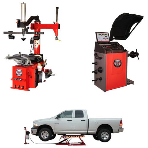 Weaver® Tire Changer / Wheel Balancer / Assist Arm / Car Lift - Quad Combo 6