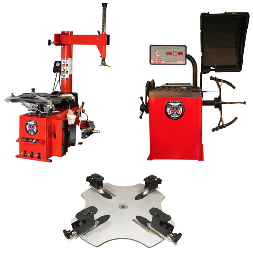 Weaver® Motorcycle Tire Changer / Wheel Balancer - Combo 4