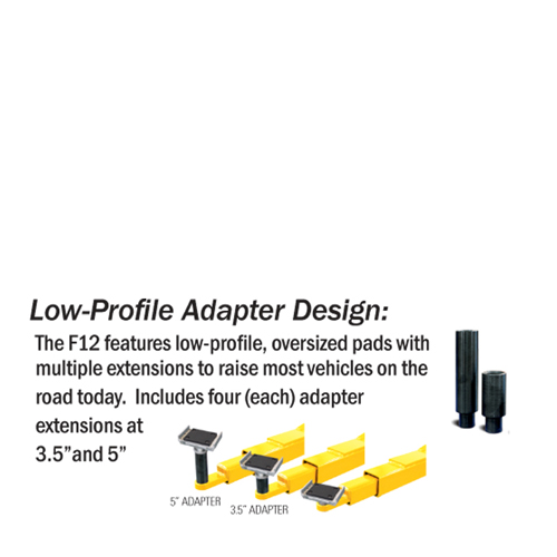 Forward® F12 Low Profile Arms allow access to most Cars and Trucks